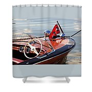 Chris Craft Deluxe Runabout Shower Curtain