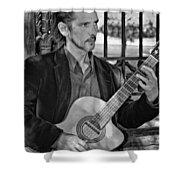 Chris Craig - New Orleans Musician Bw Shower Curtain