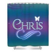 Chris Name Art Shower Curtain