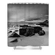 Chris's Rock 2013 Black And White Shower Curtain