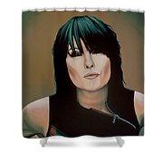 Chrissie Hynde Painting Shower Curtain