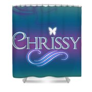Chrissy Name Art Shower Curtain