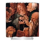Christ Among The Doctors Shower Curtain