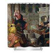 Christ Among The Doctors In The Temple Shower Curtain