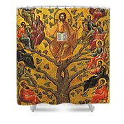 Christ And The Apostles Shower Curtain by Unknown