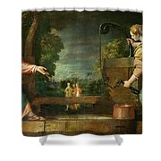 Christ And The Samaritan Woman At The Well Shower Curtain