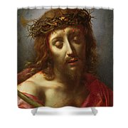 Christ As The Man Of Sorrows Shower Curtain by Carlo Dolci