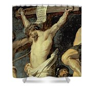 Christ Between The Two Thieves, 1620 Shower Curtain