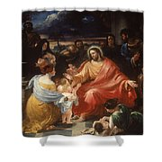 Christ Blessing The Little Children Shower Curtain