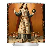 Christ Child With Passion Symbols Shower Curtain