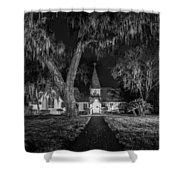 Christ Church Bw Shower Curtain