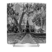 Christ Church Etching Shower Curtain by Debra and Dave Vanderlaan