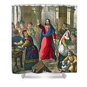 Christ Cleanses The Temple Shower Curtain