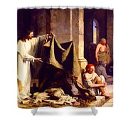 Christ Healing The Sick  Shower Curtain