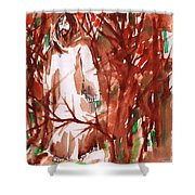 Christ In The Forest Shower Curtain