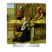 Christ In The House Of His Parents Shower Curtain