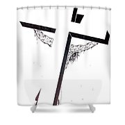 Christ On Cross Shower Curtain