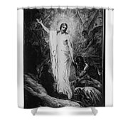 Christ Preaching To The Spirits In Prison C. 1910 Shower Curtain