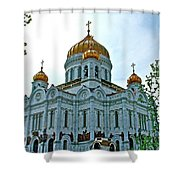 Christ The Savior Cathedral In Moscow-russia Shower Curtain