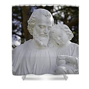 Christ With A Child Shower Curtain