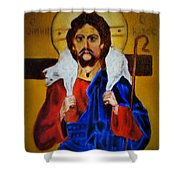 Christ With A Lamb Shower Curtain