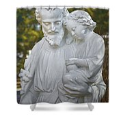Christ With Child Shower Curtain