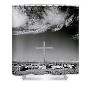 Christian Grave Shower Curtain