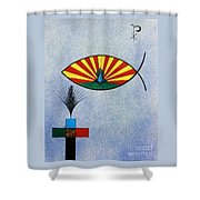 Fish Of Creation Shower Curtain