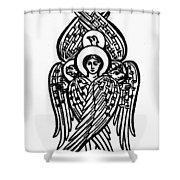 Christianity Tetramorph Shower Curtain