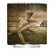 Christina's World Revisited Shower Curtain