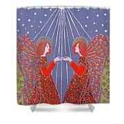 Christmas 77 Shower Curtain by Gillian Lawson