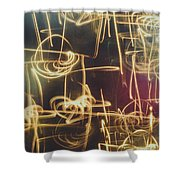 Christmas Abstract V Shower Curtain