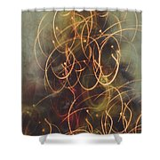 Christmas Abstract Vi Shower Curtain