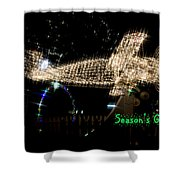 Christmas Airplane Shower Curtain