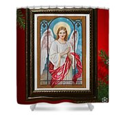 Christmas Angel Art Prints Or Cards Shower Curtain