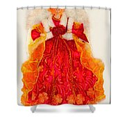 Christmas Angle Card Shower Curtain