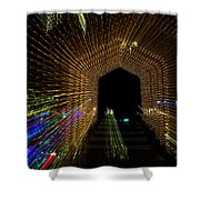 Christmas Arch Zoom Shower Curtain