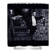 Christmas At Dracula's Shower Curtain