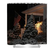 Christmas At Home Shower Curtain