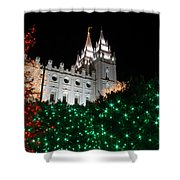 Christmas At Temple Square 12 Shower Curtain