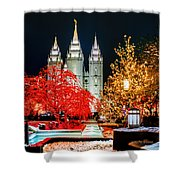 Christmas At Temple Square Shower Curtain