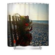 Christmas At The Beach Shower Curtain
