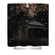 Christmas At The Homestead Shower Curtain