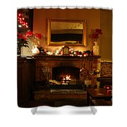 Christmas At The Pub Shower Curtain