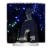 Christmas At The War Memorial Shower Curtain