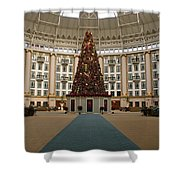 Christmas At West Baden Shower Curtain