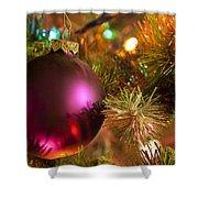 Christmas Ball Ornament Purple 1 Shower Curtain