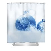 Christmas Balls Decoration Shower Curtain