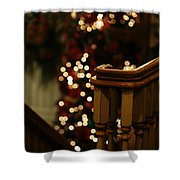 Christmas Banister 1 Shower Curtain