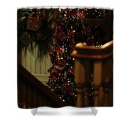 Christmas Banister 2 Shower Curtain